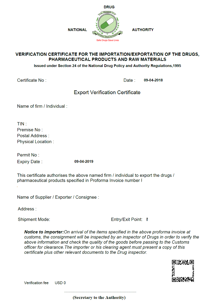 Obtain Verification Certificate